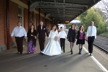 Wedding Party,Warragul Railway Platform