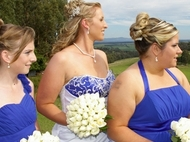 Wedding Photo:Rebecca and the Girls in profile