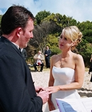Tika & Andrew,Beachside Wedding Ceremony Ring Exchange