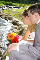 Brendan & Emily ,post wedding photography  by the brook...