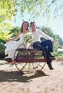 Brett & Melanie,wedding photo at the venue