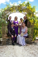 Wedding day photos,outdoors with Belinda & Tom