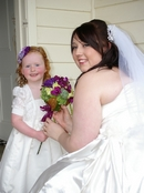Bride to be photo:Setting with junior flower girl