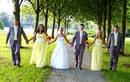 Bridal Group Photo:Strolling together...