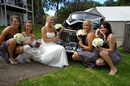 Wedding Photographer:  Bridal Party photography.features the wedding vehicle