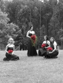 B/W WITH RED ROSES -From Poet's Lane Wedding,Mnt. Dandenong