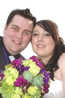 Wedding Photos: Bride and Groom Featuring a bright  bouquet