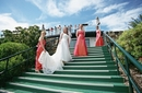 Bride and bridesmaids :Sharing a Flight of Stairs Photograph