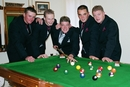 Groom & Groomsmen,poole table,pre-wedding pot shots...