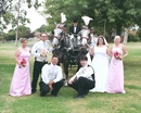 Bridal Party Photo: Horse- drawn wedding transport