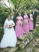 8 in a row Bridal party photography by Tony R.